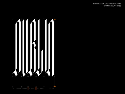 Font Exploration typography type vector lettering typedesign type designer custom font blackletter glyphsapp glyphs design explorations font exploration