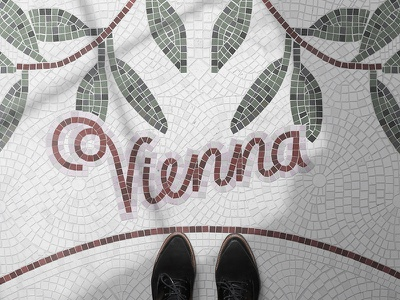 Fauxsaics Vienna Illustration poster handlettering vector illustrator mosaic type illustration fauxsaics graphicdesign artwork vienna typography