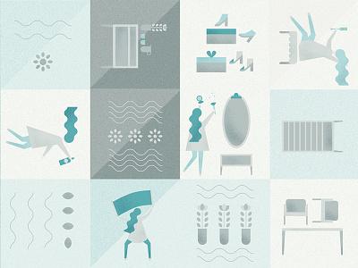 vector illustration for pattern packaging design party girls blue illustrator vector illustration vector pattern illustrate illustration