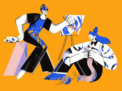 Creative business painters business denmark aarhus hobby knitting painter artist design illustration
