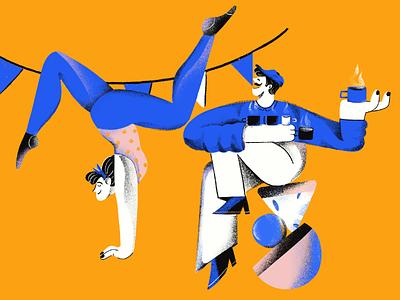 Creative business.2 branding business girl sport coffee yoga character denmark aarhus illustrator illustration