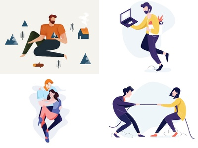 2018 in review mountain competition top4 internship couple character concept illustration the best shots review 2018
