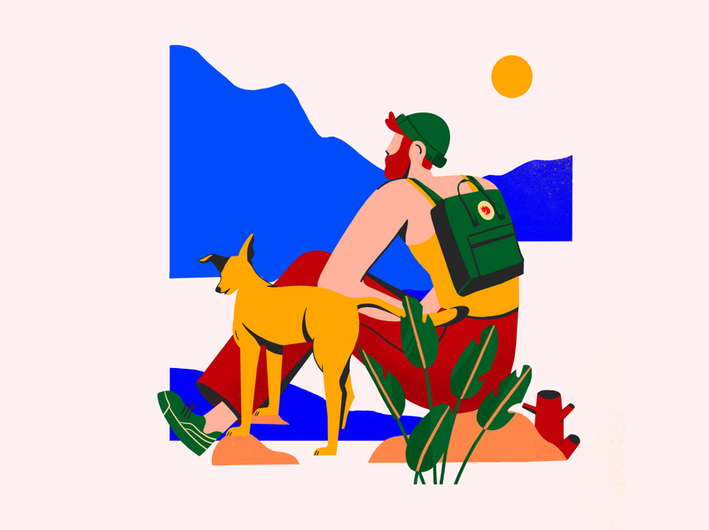 Dribbble invites giveaway giveaway dribbble invitation invite giveaway invite nature dog adventure mountain hikking travel digital vector illustration