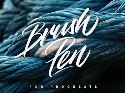 Brush Pen for Procreate lettering fonts script design modern calligraphy typography ipad pro procreate brushpen brushes brush