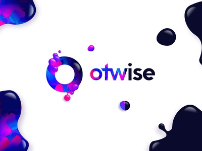 Two faces of otwise otherwise glitch 3d color fluid symbol mark branding logo o circle otwise