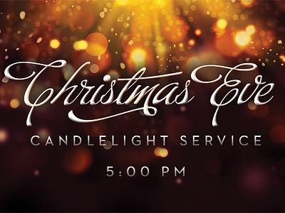 Christmas Eve christmas typography invitation