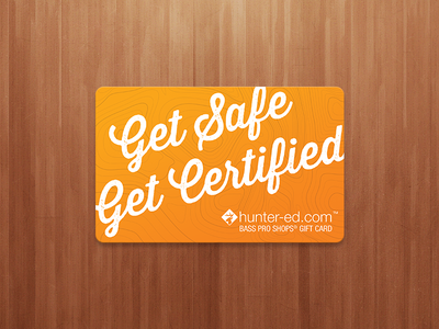 Hunter-ed.com Custom Bass Pro Gift Card gift card hunter-ed print