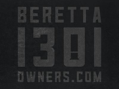 Beretta 1301 Owners logo shotgun negative space firearms tactical logo