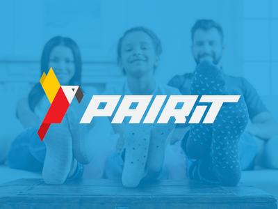 PairIt origami parrot typography custom logo identity branding