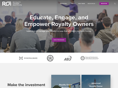 Royalty Owner Institute web