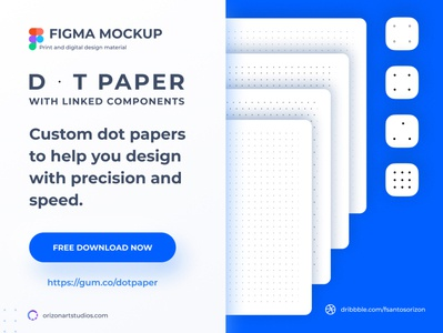 Dot and Grid Paper Template - Free Figma Mockup graphic uidesign design interface ux uiux ui vector download print template modern freebie clean design mockup figma material grid dot design material paper