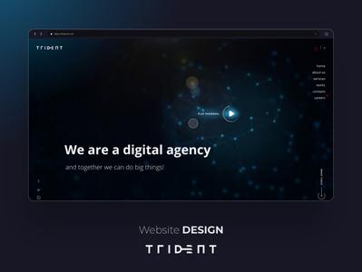Trident Suisse - Logo & Website Redesign 2 bold vector interactive tech figma it agency online mobile uidesign ui uiuxdesign uiux responsive modern website modern interface design website