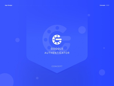 Google Authenticator - App Concept uidesign android ios application uxdesign uiux ux ui modern mobile interface verification google authenticator google figma app design concept clean ui clean app