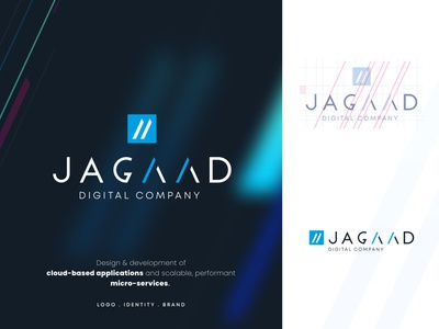 Jagaad - Digital Company - Logo / Brand / Identity identity app tech mark branding clean logodesign digital brand identity brand modern typeface figma graphic design vector logo typography icon