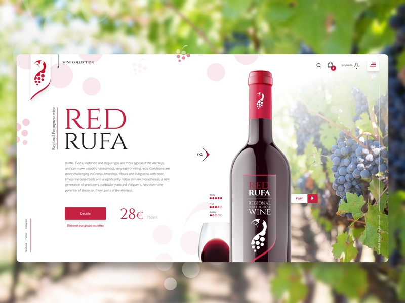 Rufa Regional Portuguese Wine By Fábio Santos Dribbble Dribbble