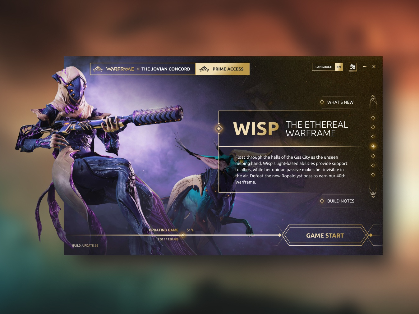Warframe - Game Launcher Design Concept by Fábio Santos on Dribbble
