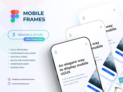 Figma - Free Flat Mobile Frames Mockup