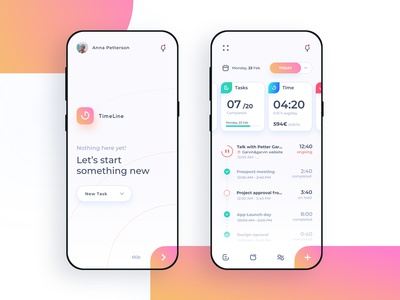 TimeLine - Time and Project tracking app - V1