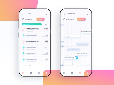 TimeLine - Time and Project tracking app - V2