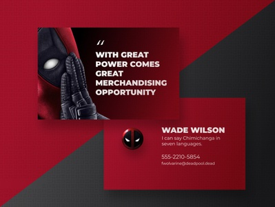 Design a Business Card for a Superhero - Deadpool