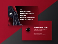 Design a Business Card for a Superhero - Deadpool