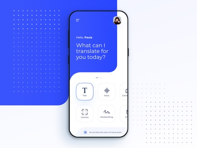Google Translate app concept - Home