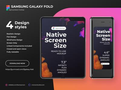 Samsung Galaxy Fold - Figma Mockup