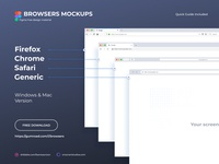 Browsers Mockups - Free Figma Download