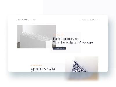 Contemporary Art Gallery website - 2 / 3 art artgallery exhibitions events figma gallery interface mobile modern museum responsive ui uidesign uiux uiuxdesign ux vector web website concept