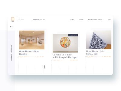 Contemporary Art Gallery website - 3 / 3 art vector artgallery exhibitions events figma gallery interface mobile modern museum responsive ui web uidesign uiux uiuxdesign ux website concept
