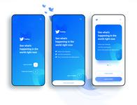 Twitter app concept  - Welcome screen