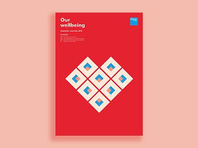 Bupa Corporate Newsletter illustration typesetting print
