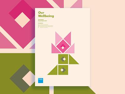 Bupa Corporate Newsletter - Spring Edition typesetting print newsletter illustration corporate