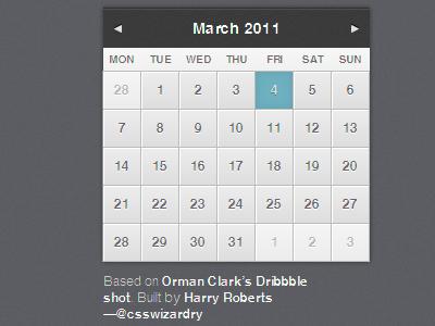 Calendar build