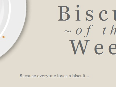 Biscuit of the Week typography web biscuits food