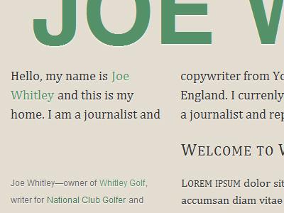 Whitley Journalism typography web grid baseline