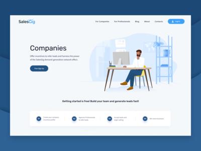 Companies page illustration