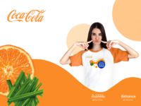 Women orange coca cola dribbbler 02