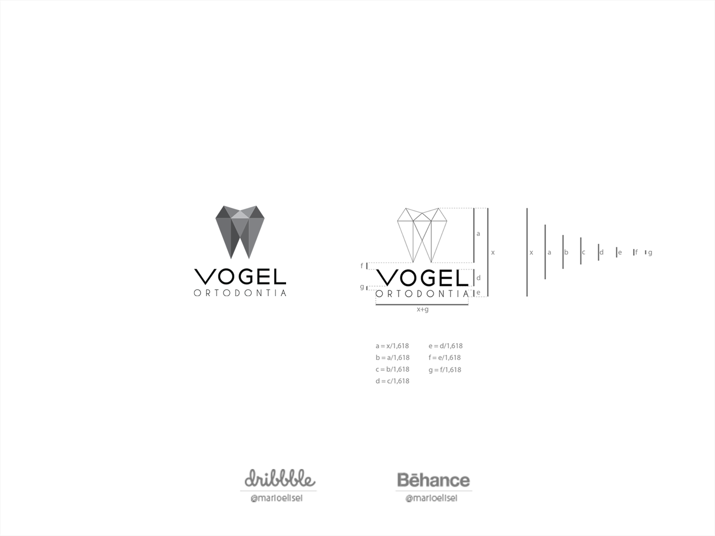 Logo Redesign Process - PART 4-4 - Branding Vogel branding logo design golden ratio golden ratio logo fibonacci graphic  design branding and identity adobe illustrator grid logo grid construction grid grid design