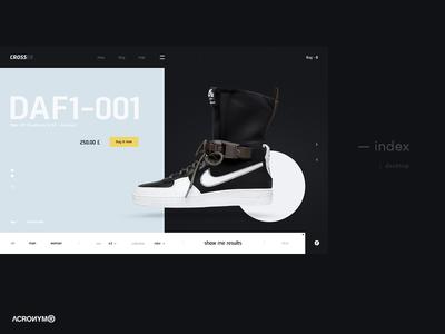 Crosser web ux ui store shop promo fashion ecommerc cyberpunk concept