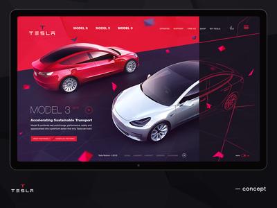 Tesla concept car site promo auto tesla