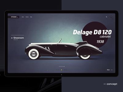 Classic Cars for Sale web site shop retro promo interface car auto