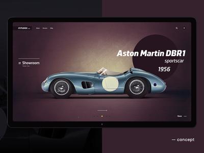 Classic Cars for Sale web shop retro interface car site promo auto