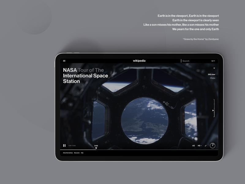 Wikipedia Imagination videoplayer 360 degree agima clean black wikipedia cosmos white