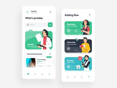 Magny App business app australia business minimal concept flat uidesign ui design app ui app sydney iran uxui uiux mobile app mobile ui xd ux ui illustration