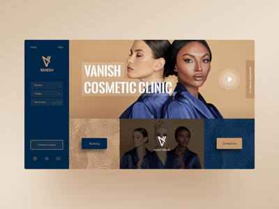 Vanish website ux ui ux design website ui web ui cosmetic uxdesign web canada website concept concept iran web design website design website uiux uxui uidesign ui design ux ui