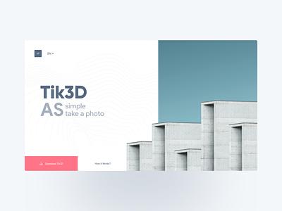 Tik3D website ui  ux minimalist ux  ui ux design uxui 3d canada concept uidesign uiux ui design ux ui iran web design webdesign website web minimal flat