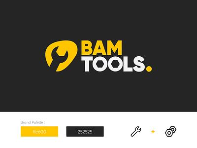 Bam Tools Logo concept vector logodesign typography icon logotype branding illustration flat logo