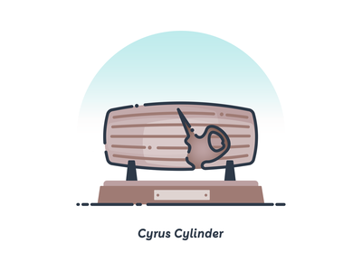 Cyrus Cylinder illustrator cyrus cylinder iran design illustration flat vector
