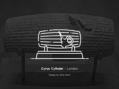 Cyrus Cylinder iranian flat illustrator iran design illustration vector